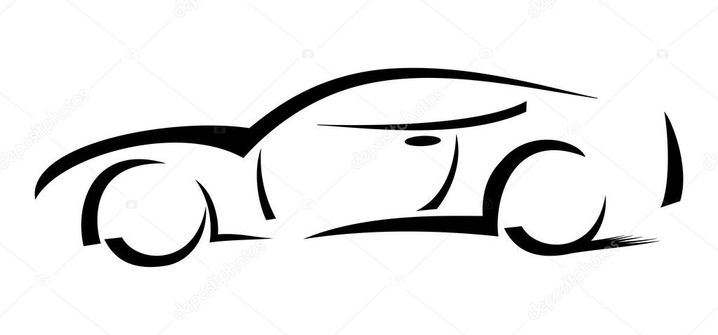 Racing Car Silhouette Illustration Stock Photo