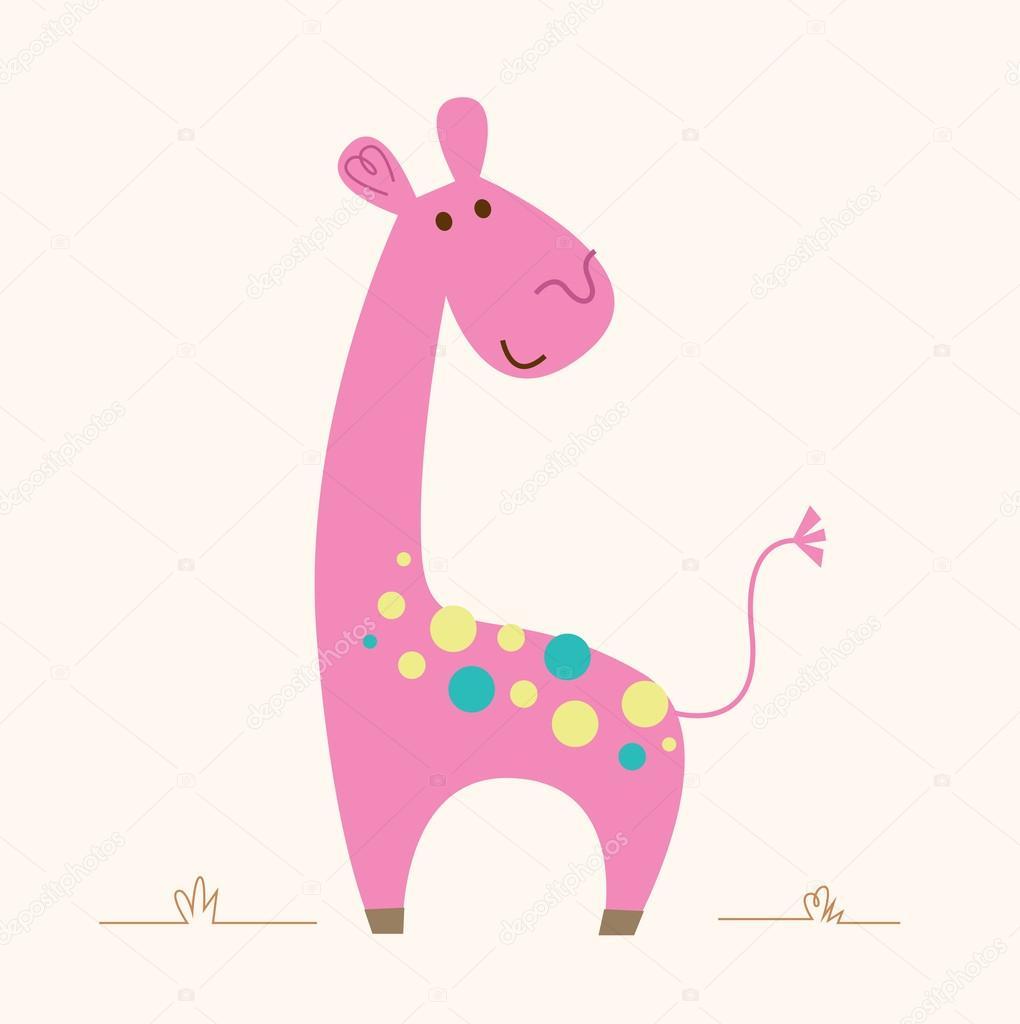 귀여운 핑크 기린 캐릭터 아기 방 — 스톡 벡터 © BEEANDGLOW #76793771