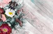 Photo of flowers like greeting card — Stock Photo