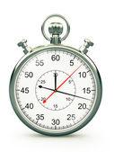 Old style chronometer on white background — Stock Photo