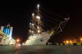 Passenger tall ship moored at the port Odessa — Stock Photo