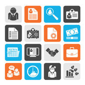 Silhouette Employment and jobs icons — Stockvector