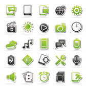 Mobile Phone Interface icons — Stock Vector