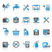 Petrol station icons — Stock Vector
