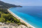 Kokkinos Vrachos Beach, Lefkada, Ionian Islands — Stock Photo