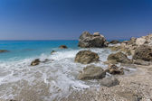 Megali Petra Beach, Lefkada, Ionian Islands — Photo