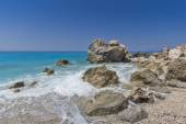 Megali Petra Beach, Lefkada, Ionian Islands — Foto de Stock