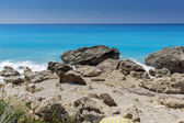 Megali Petra Beach, Lefkada, Ionian Islands — Foto Stock