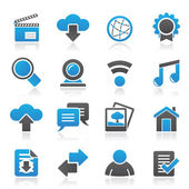 Internet and website icons — Stock Vector