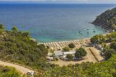 Oneirou Beach Manassu, Chalkidiki, Sithonia, Central Macedonia — Stock Photo