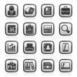 Computer peripherals and accessories icons — Stock Vector #57999719