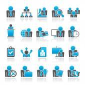 Ressources humaines et les icônes de l'entreprise — Vecteur