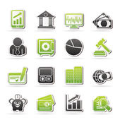 Business, finance and bank icons — Stock Vector