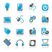 Electronic Devices objects icons — Stock Vector