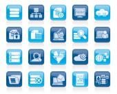 Data and analytics icons — Vettoriale Stock