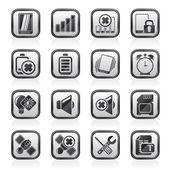 Mobilní telefon znak ikony — Stock vektor