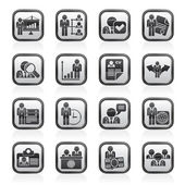 Human resource and employment icons — Stockvector
