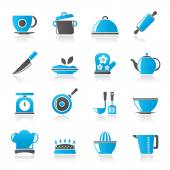 Restaurant and kitchen items icons -  vector icon set — Stock Vector