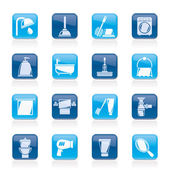 Bathroom and hygiene objects icons -vector icon set — Stock Vector