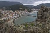 Panoramic views of Parga town, Epirus — Stock Photo