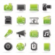 Multimedia and technology Icons — Stock Vector #63213543