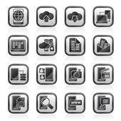 连接、 通信和移动电话的图标 — 图库矢量图片