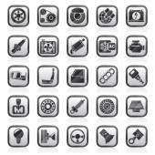 Car parts and services icons — Stock Vector