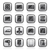 Home appliance icons — Stock Vector