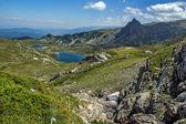 The Twin and The Trefoil lakes, The Seven Rila Lakes, Rila Mountain — Stock Photo