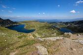 The Kidney,The Twin and The Trefoil lakes, The Seven Rila Lakes, Rila Mountain — Stock Photo