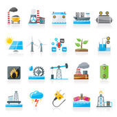 Electricity and Energy source icons — Stock Vector