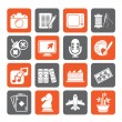 Silhouette Hobbies and leisure Icons — Stock Vector #69142705