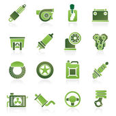 Car part and services icons — Stock Vector