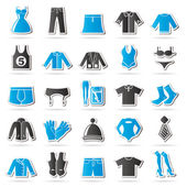 Clothing and Fashion collection icons — Stock Vector