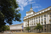 Independence Square and the building of the Council of Ministers — Stock Photo