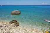 Blue Waters of the Agios Nikitas Beach, Lefkada, Ionian Islands — Stock Photo
