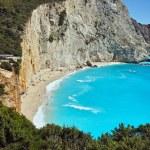 Blue Waters of Porto Katsiki Beach, Lefkada — Stock Photo #75835139