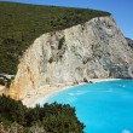 Blue Waters of Porto Katsiki Beach, Lefkada — Stock Photo #75835441