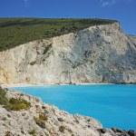 Blue Waters of Porto Katsiki Beach, Lefkada — Stock Photo #75835669