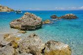 Blue Waters of the Agios Nikitas Beach, Lefkada — Stock Photo