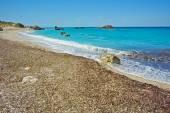 Panoramic view of Megali Petra Beach, Lefkada — Stock Photo