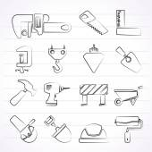 Construction industry and Tools icons — Stock Vector