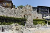 A reconstructed gate part of Sozopol ancient fortifications — Stock Photo