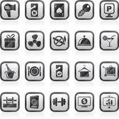 Hotell- och motellrum tjänster ikoner — Stockvektor