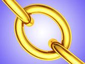 Altın zincir — Stok fotoğraf