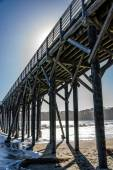 Rising Tide and Ocean Pier — Stock Photo