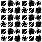 Black and White Square Quilt Pattern — Stock Photo