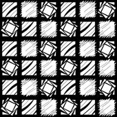 Black and White Repeating Block Pattern — Stock Photo