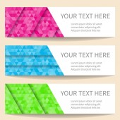 Bright web banners — Stock Vector