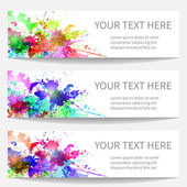 Banners with bright blobs — Stock Vector